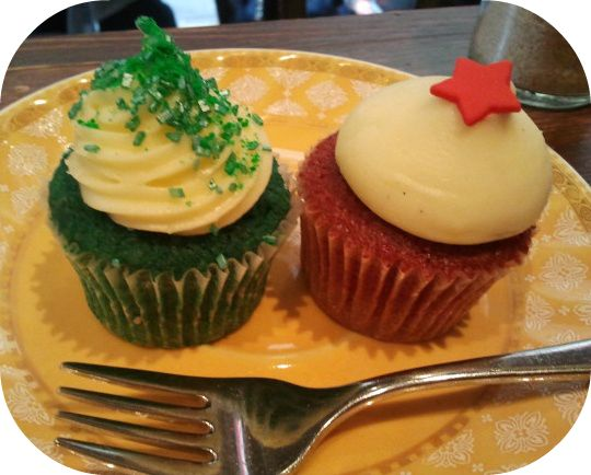 Mini Red Velvet and Mini St Patricks Day Cupcakes