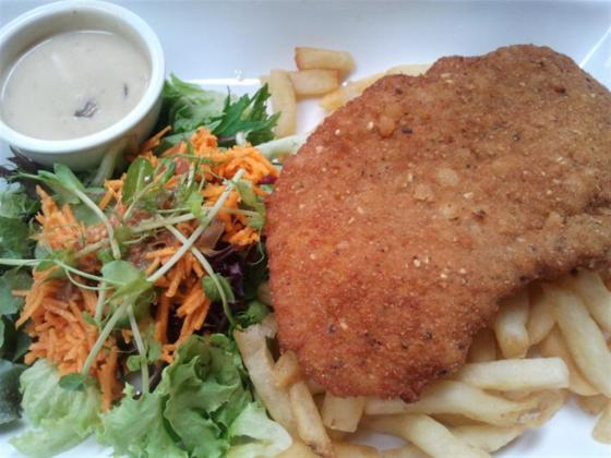 Pork Schnitzel with Fries